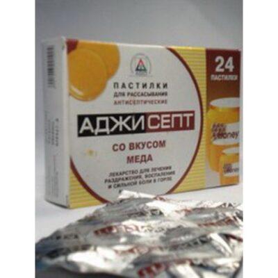 Adzhisept honey 24's lozenges