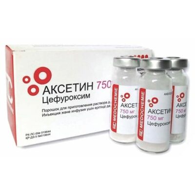 Aksetin 750 mg 10s powder for solution for injection and inf.