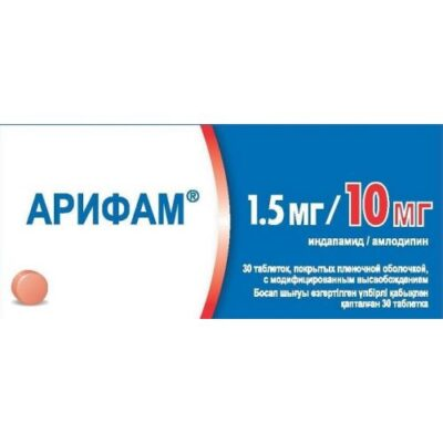 Arif 1.5 mg / 10 mg (30 film-coated tablets) with modified release