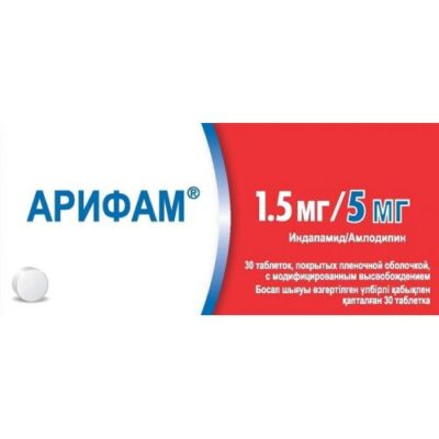 Arif 1.5 mg / 5 mg (30 film-coated tablets) with modified release