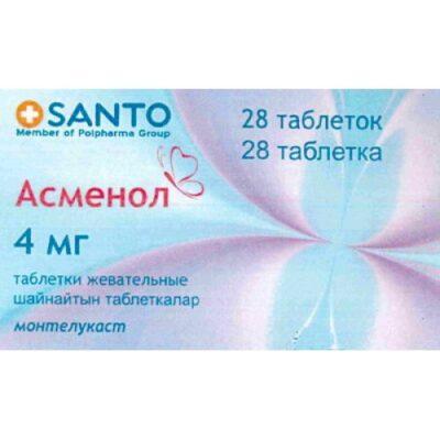 Asmenol 28's 4 mg chewing tablets