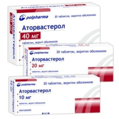 Atorvasterol 30s 40 mg coated tablets