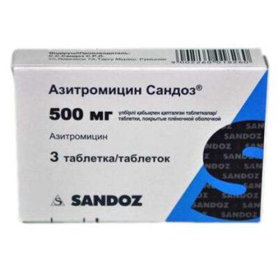 Azithromycin Sandoz® 3's 500 mg film-coated tablets