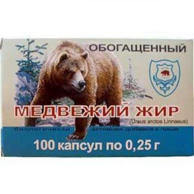 Bear fat 0.3g (100 capsules)
