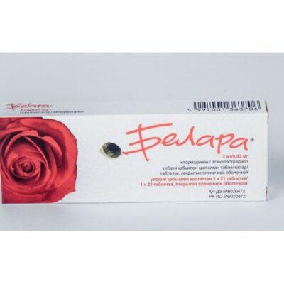 Belara 2 mg / 0.03 mg 21's coated tablets