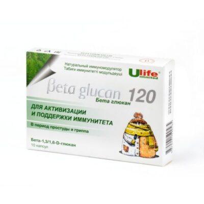 Beta glucan 10s 120 mg capsule