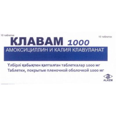 Clavam 10s 1000 mg film-coated tablets