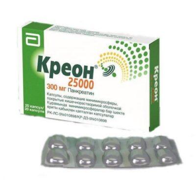 Creon 25000 300 mg (20 capsules) mg / spheres.