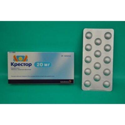 Crestor 28's 20 mg coated tablets