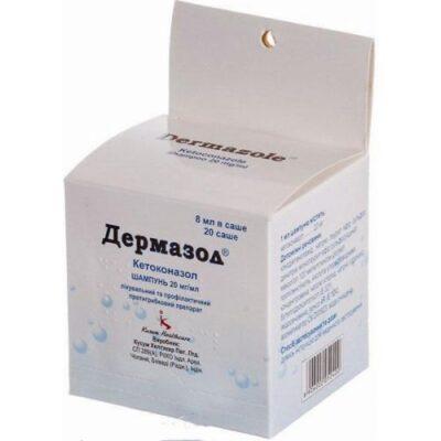 Dermazol 8 ml of 2% shampoo sachet 20s