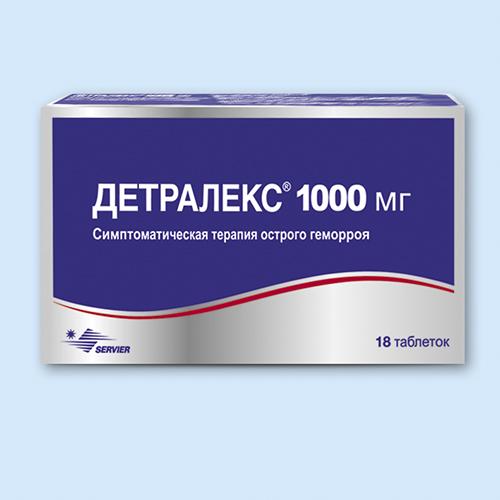 Detraleks 18's 1000 mg film-coated tablets