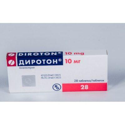 Diroton (Lisinopril) 10 mg