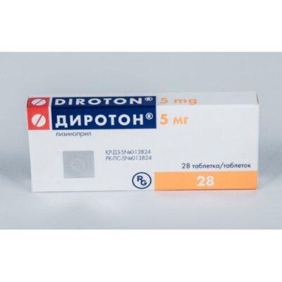 Diroton (Lisinopril) 5 mg