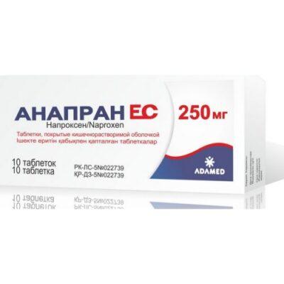 EU Anapran 10s 250 mg coated tablets