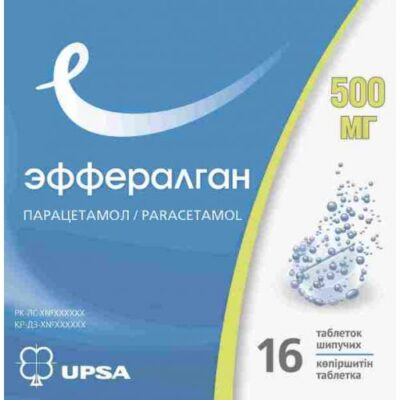 Efferalgan 16's 500 mg effervescent tablets