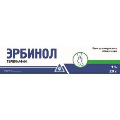 Erbinol 1% 20g cream for external use