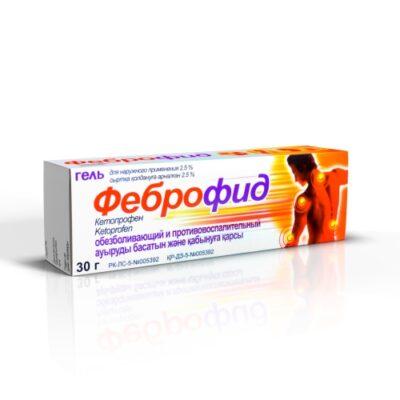 Febrofid 2.5g of 30% gel ext.