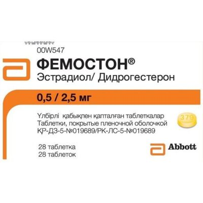 Femoston 0.5 / 2.5 28's mg film-coated tablets
