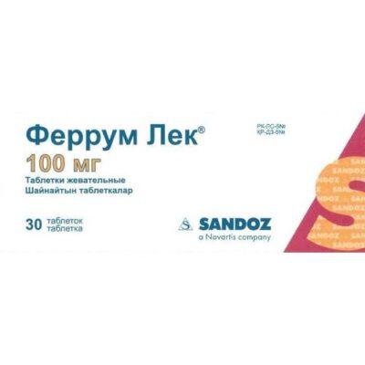Ferrum Lek 100 mg 30s chewing tablets