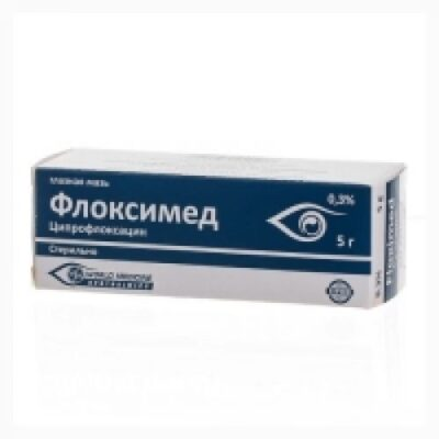 Floximed 0.3g of 5% ophthalmic ointment.