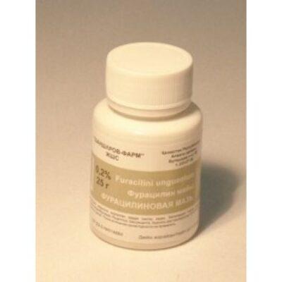 Furatsilinovoy 0.2g of 25% in the ointment jar