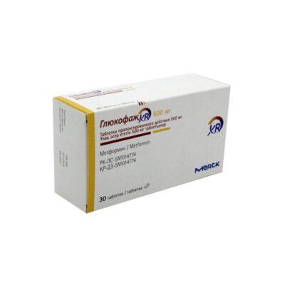 Glucophage® XR (Metformin) 500 mg (30 coated tablets)