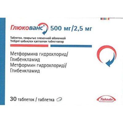 Glucovance® (Glyburide/Metformin) 500mg/2.5 mg (30 tablets)