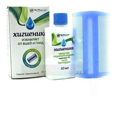 Higienika 60 ml -in pediculicides comb +