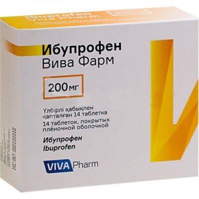 Ibuprofen Viva Pharm 14s 200 mg film-coated tablets