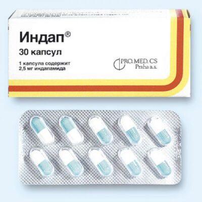 Indap 2.5 mg (30 capsules)