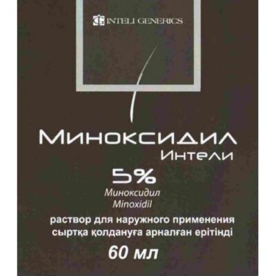 Intell Minoxidil 5% 60 ml solution for external use in vial