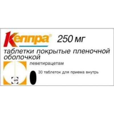 Keppra® 30s 250 mg film-coated tablets