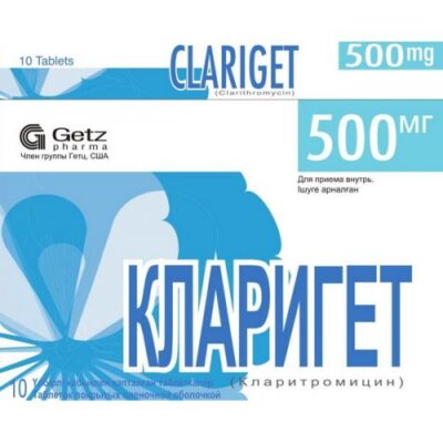 Klariget 10s 500 mg film-coated tablets