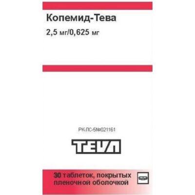 Kopemid-Teva 2.5 mg / 0.625 mg (30 film-coated tablets)