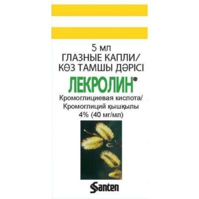 Lekrolin 4% (40 mg / ml) 5 ml of eye drops