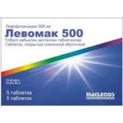 Levomak 5's 500 mg film-coated tablets
