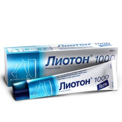 Lioton 1000 100g gel (topical application)