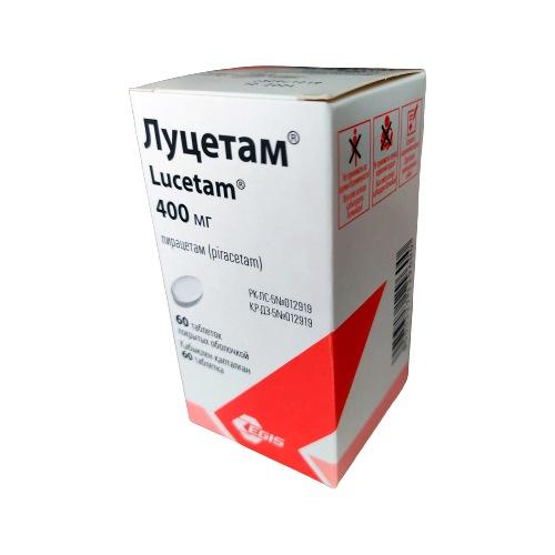 Lucetam® (Piracetam) 400 mg, 60 coated tablets