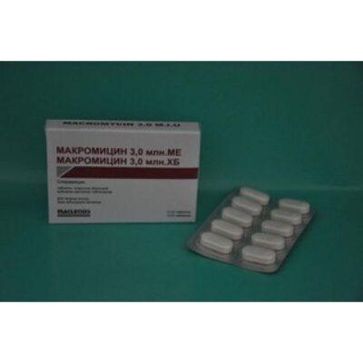 Makromitsin 3 Mill. 10s IU coated tablets