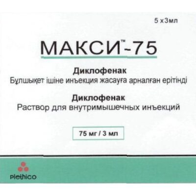 Maxi Diclofenac 75 mg / 3 ml 5's solution for injection in ampoules