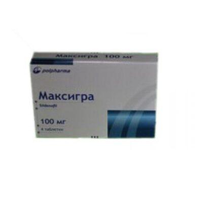 Maxigra 4's 100 mg coated tablets