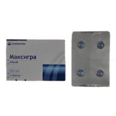 Maxigra 4's 50 mg coated tablets