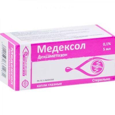 Medeksol 5 ml of 0.1% eyedrops