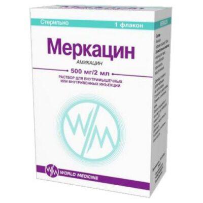 Merkatsin 500 mg / 2 ml 2 ml solution for injection