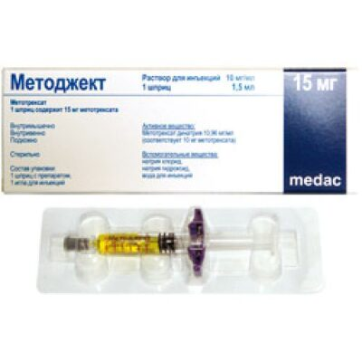 Metoject 10 mg / ml 1.5 ml injection solution