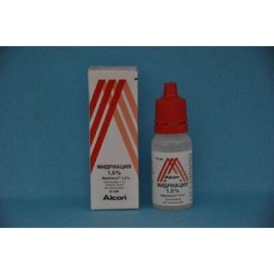Midriatsil 15 ml of 1% eye drops