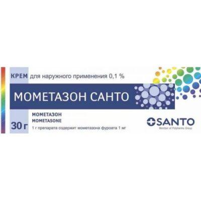 Mometasone Santo 0.1g of 30% cream for topical use