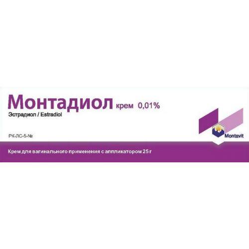 Montadiol 0.01% 25g cream