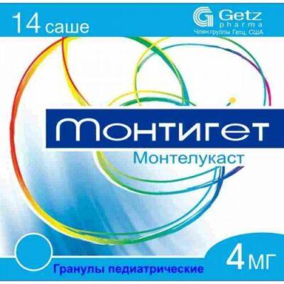 Montiget 4 mg 14s granules pediatric sachets