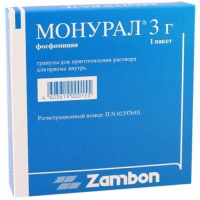 Monural 3g 1's granules for oral solution